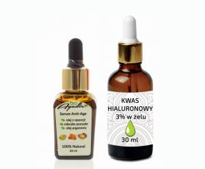 Serum anti-age z opuncją 20 ml + kwas hialuronowy w żelu 30 ml